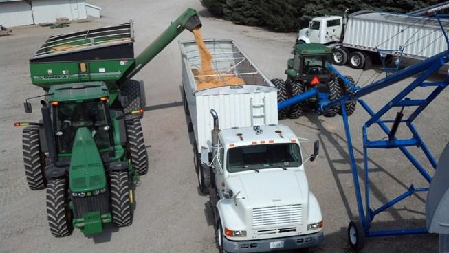 Putting Corn In Bin 2013